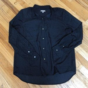 Juicy Couture Polka Dor Button Down Size XL